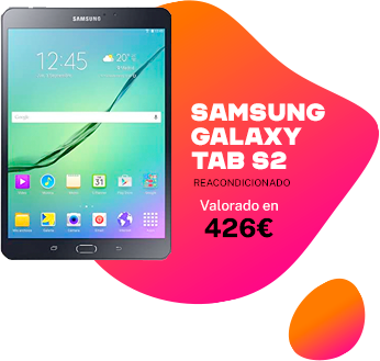 Sorteo tablet reacondicionada galaxy tab s2